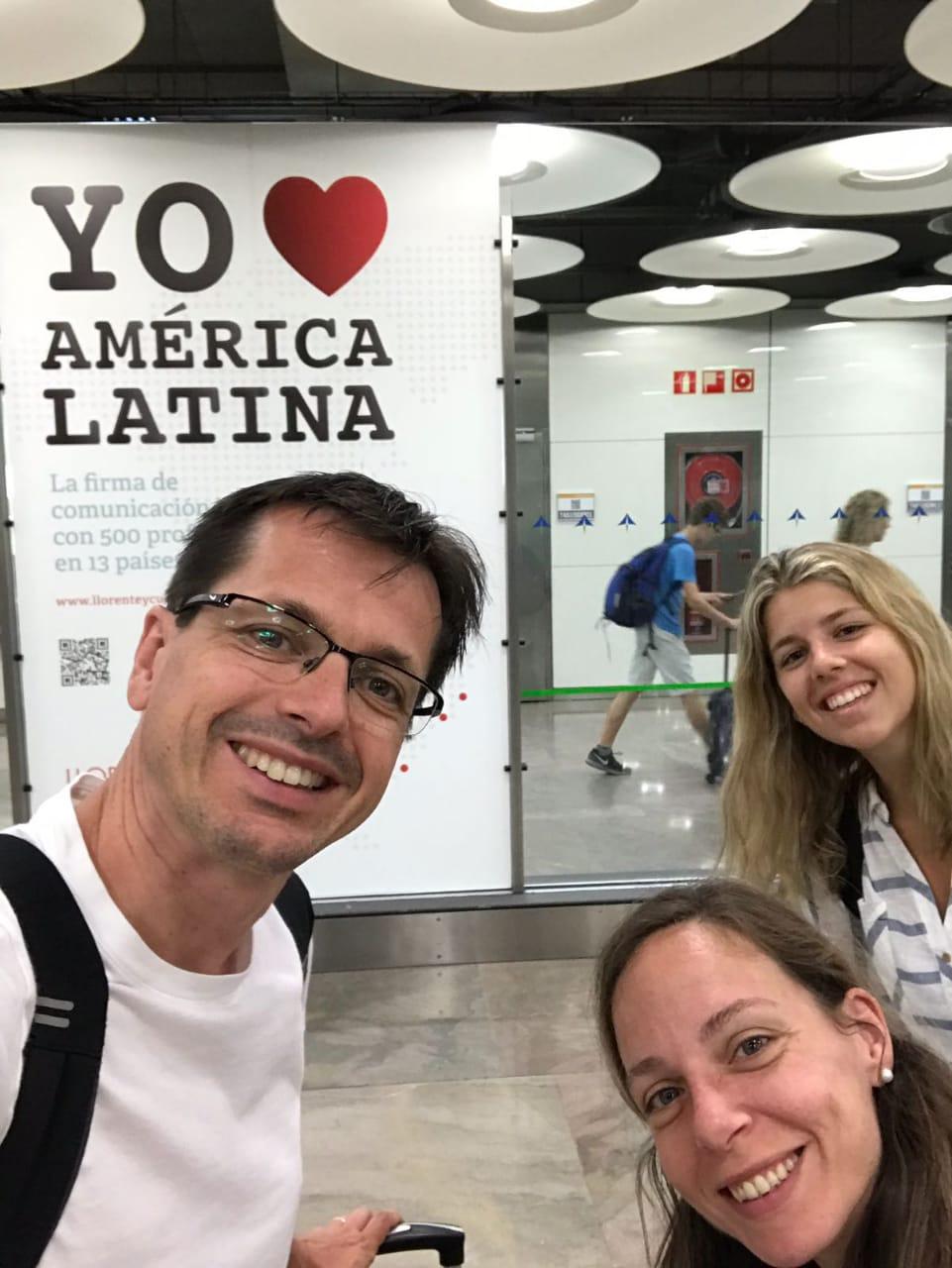 Arrival to Panama Jordi, Olga, Natalia